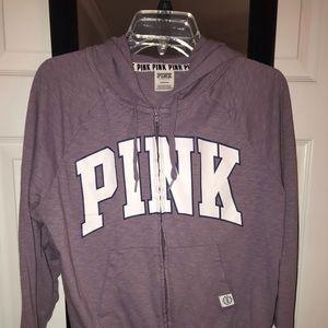 PINK by VS lavender zip up jacket
